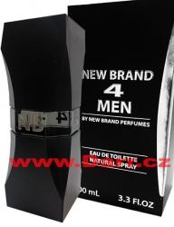 New Brand - 4 Men - pánská toaletní voda - EdT - 100 ml