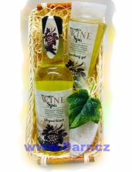 Dárkový koš Vinná kosmetika - bílá